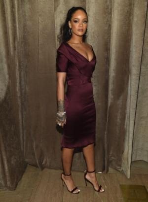 Rihanna At Zac Posen Fashion Show