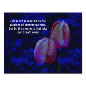 Tulips Hearts Attitude Quotes Motivational Poster