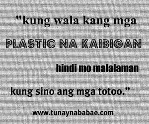 Plastic Na Kaibigan Quotes Tagalog