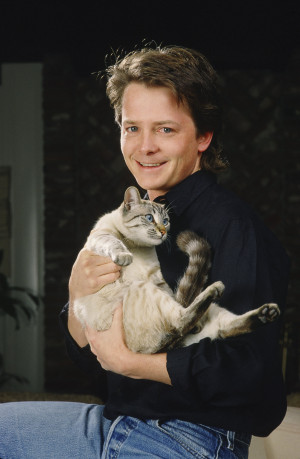 Michael J Fox George Rose photoshoot 1988