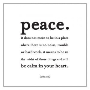 peace and calm