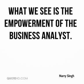 What we see is the empowerment of the business analyst.