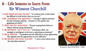 Life lessons to learn from Sir Winston Churchill (1874 - 1965)