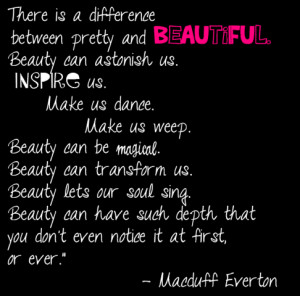 There is an INNER BEAUTY about a woman who believes in herself, who ...