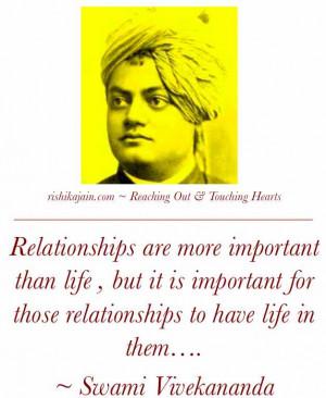Swami Vivekananda relationships