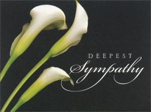 Deepest sympathy graphic