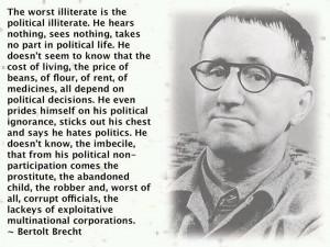 Bertolt Brecht On Political Ignorance