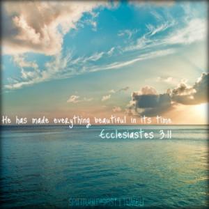 ... christian christianity ecclesiastes ecclesiastes 3 11 bible verse