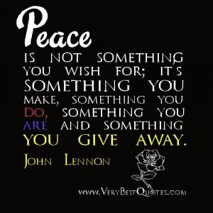 Peace quotes, John Lennon Quotes