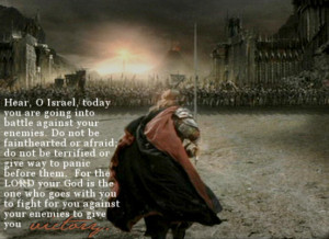 Today you are going into battle – Bible Quote
