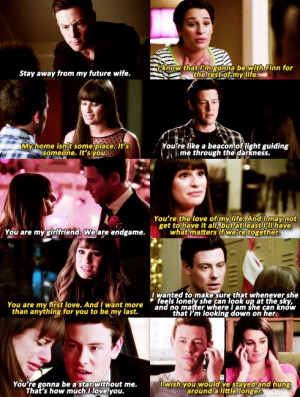 Finn Hudson And Rachel Berry Quotes
