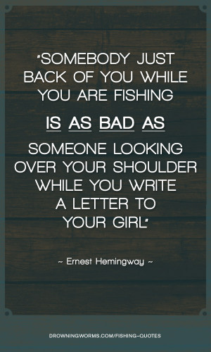 Letter to Your Girl – Fishing Quote