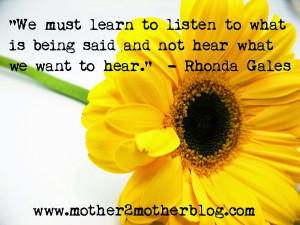 Inspirational Quotes: Learn To Listen