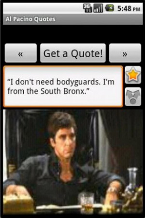 View bigger - Al Pacino Quotes for Android screenshot