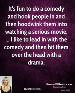 hook people in and then hoodwink them into watching a serious movie ...