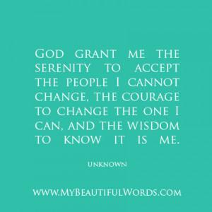 Serenity. Courage. Wisdom.