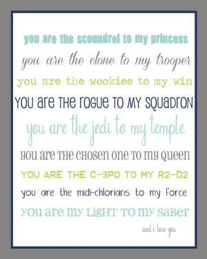 For the Star Wars lover in your life...FREE printable! by Ellie Bean ...