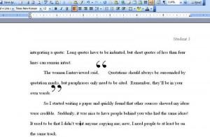 Quotes in essay