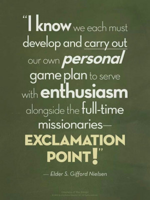Missionary Work - work a plan :)