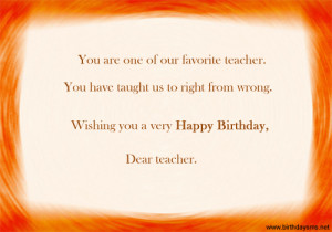 Birthday Greetings Quotes For Teachers #2