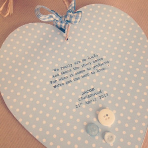 Godson/Goddaughter personalised wooden quote heart