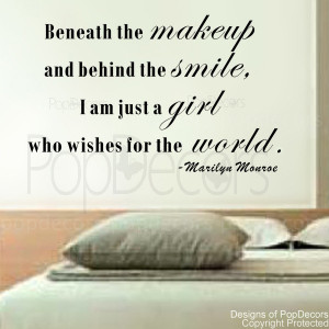 ... Am Just A Girl Who Wishes for the World-Vinyl Words Letters Quote