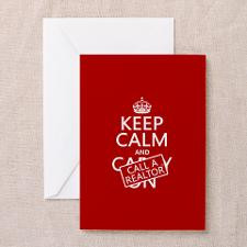 Keep Calm and Call A Realtor Greeting Cards (Pk of for
