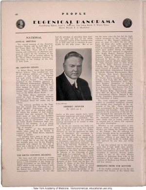 (April 1931) news items: disputed quote by President Herbert Hoover ...