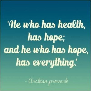 Health, quotes, sayings, hope, food