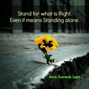 Take a stand, stop caring what others say or think !!!!!