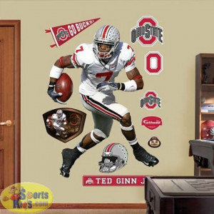 Ohio State Buckeyes Ted Ginn Jr. REAL.BIG Fathead Wall Graphic