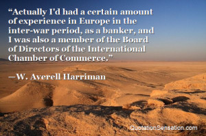 ... of the International Chamber of Commerce. - W. Averell Harriman
