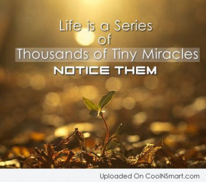 Life Quote: Life is a series of thousands of...