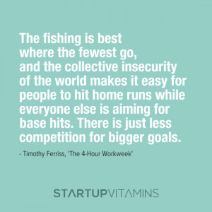 The fishing is best where the fewest go, and the collective insecurity ...