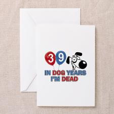 Funny 39 year old gift ideas Greeting Cards (Pk of for
