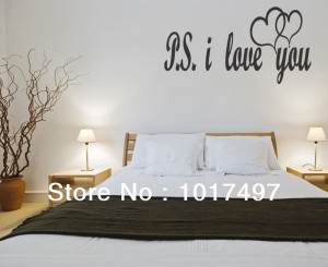 -Large-size-PS-I-LOVE-YOU-Vinyl-wall-lettering-bedroom-decor-quotes ...