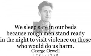 Design #GT85 George Orwell - We sleep safe in our beds