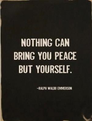 Waldo Emerson quote. Emerson also encompassed great ideals of self ...