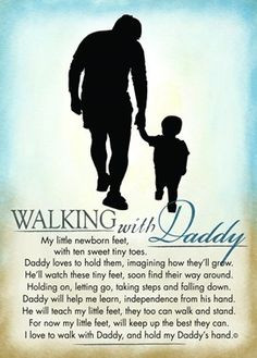 Walking with Daddy! My son has the BEST Daddy :) More