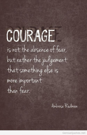 Famous courage quote 2014