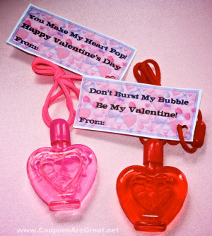 ... to Candy – Bubbles for Valentine's Day (Including Tag PDF