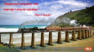 Inspirational Wallpaper Quote by Peter F. Drucker