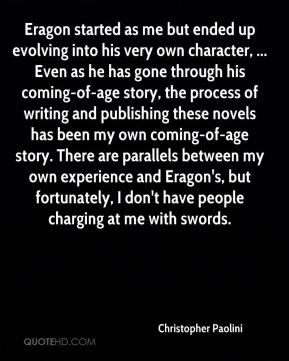 Christopher Paolini - Eragon started as me but ended up evolving into ...