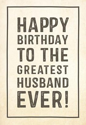 Printable Birthday Card - Greatest Husband
