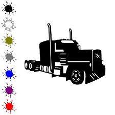 Semi vinyl decal semi truck driver sticker