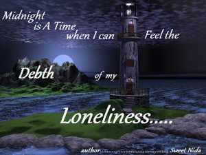Deep Down in Loneliness Quote | Sweet Nida