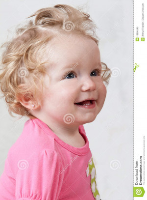 One Year Old Baby Girl Smiling