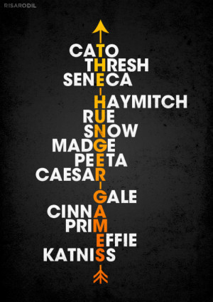art Typography The Hunger Games hunger games Poster no clove glimmer ...