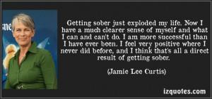 Jamie Lee Curtis on Getting Sober