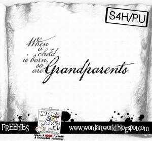 Grandparents---A New Freebie!